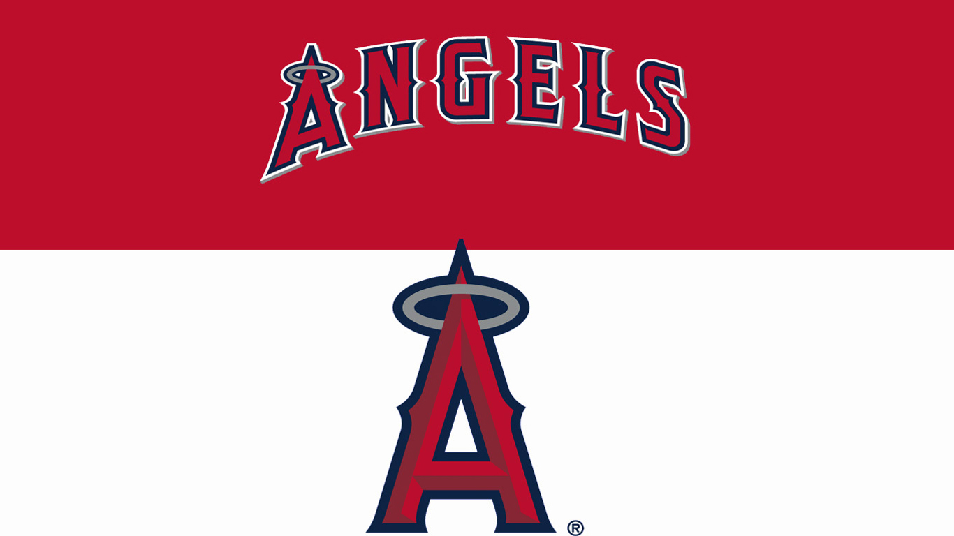 Similiar Los Angeles Angels Logo Wallpaper Keywords 1366x768