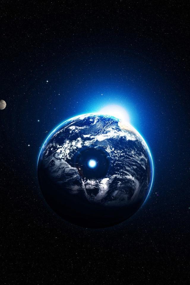 Sfondo Earth Light Iphone 4 Wallpaper   640 x 960   Iphone 4 640x960
