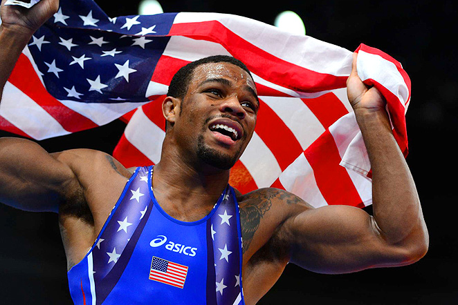 Jordan Burroughs won the 74kg weight class at the 2012 Olympics in 662x442