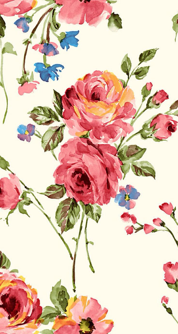 wallpapers   Vintage Flower Print Home stuff Pinterest Vintage 736x1376