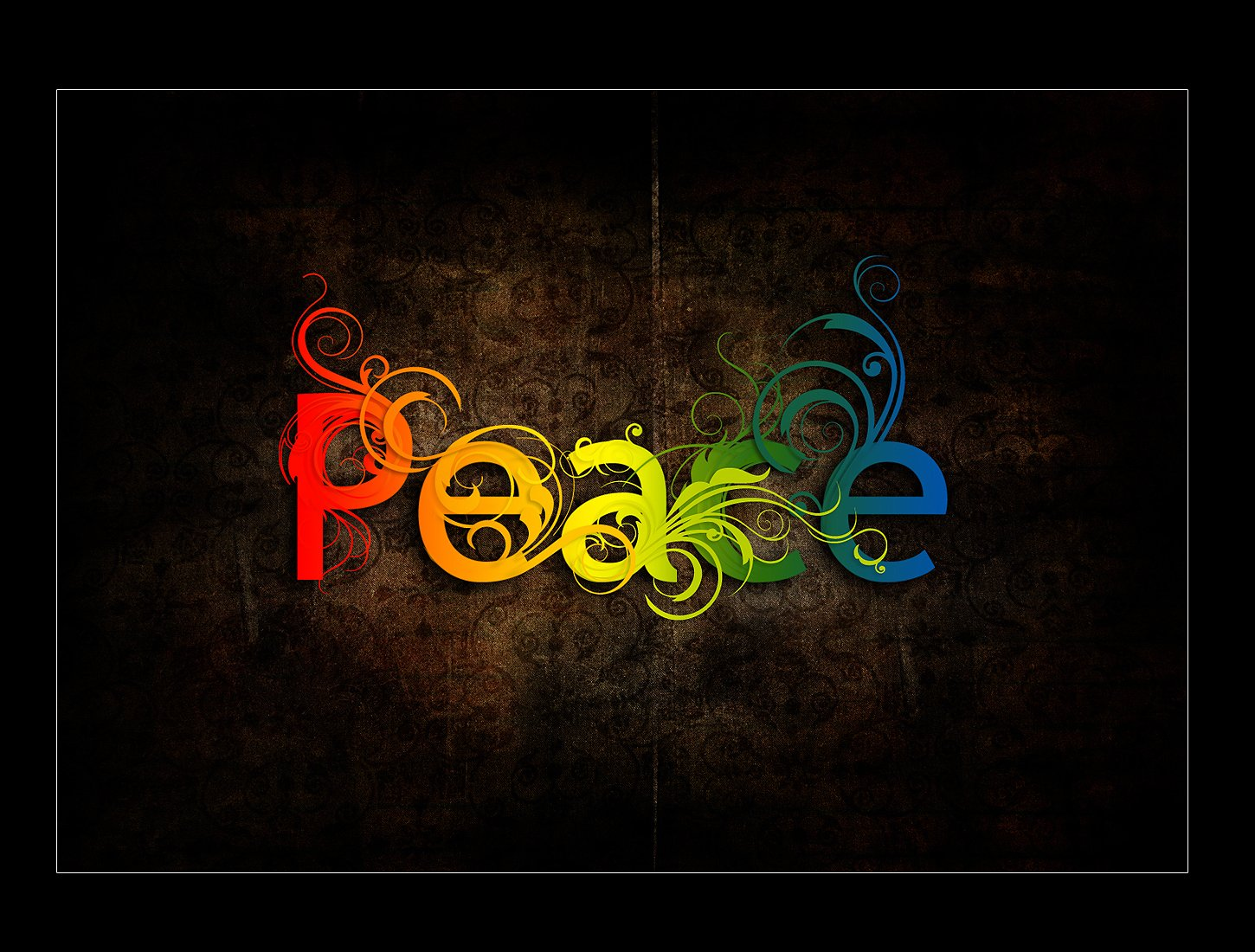 The Word Peace Colorful   wallpaper 1450x1100