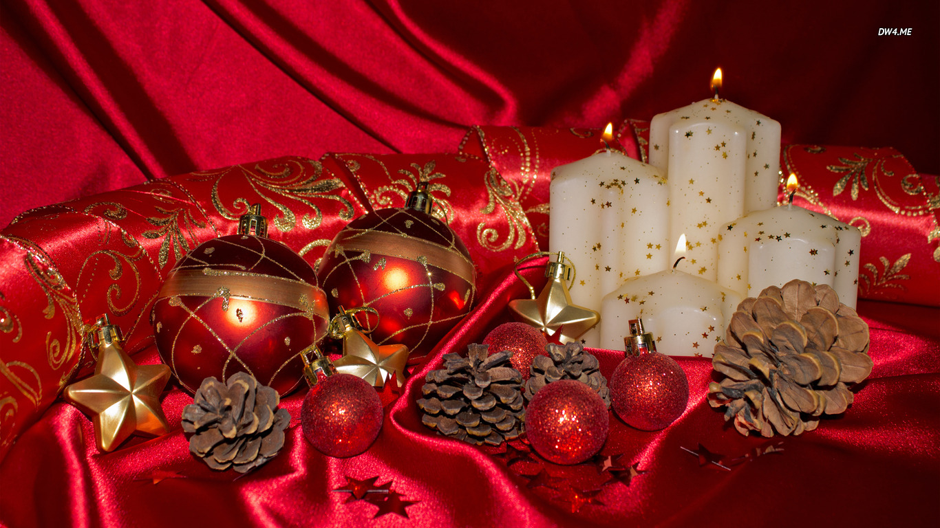 Christmas decorations wallpaper   Photography wallpapers 1366x768