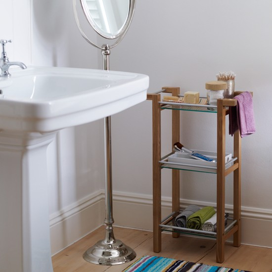 Family bathroom with freestanding storage Modern bathroom Bathroom 550x550