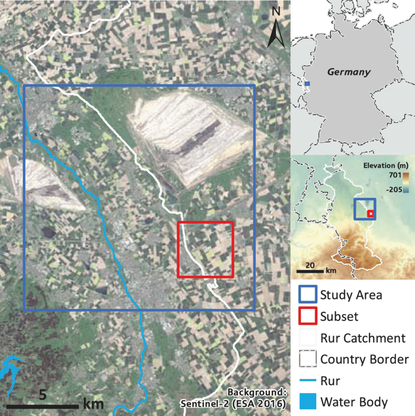 Location of the study site Image Background Sentinel 2 image 850x851