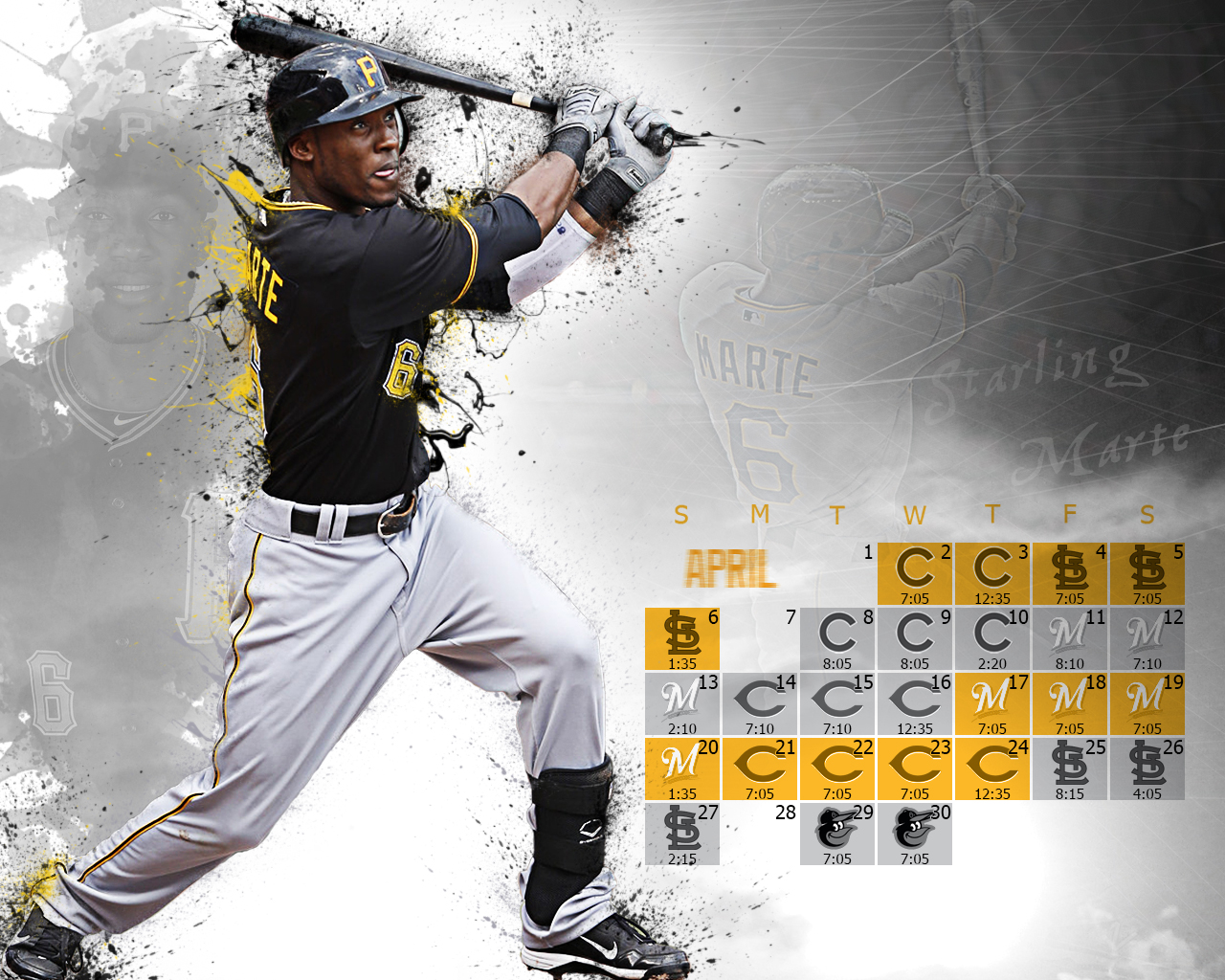 Pittsburgh Pirates Starling Marte 1280x1024