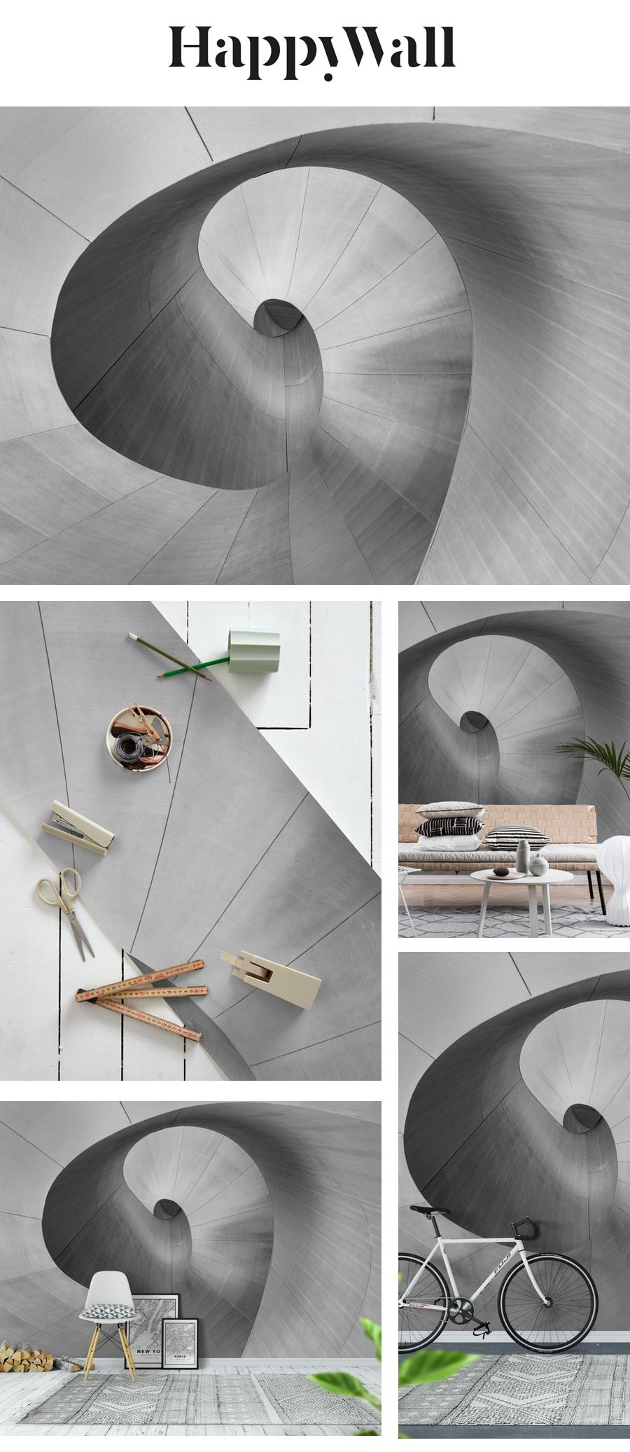 Curves Wall mural in 2020 Curved walls Wall murals 900x2073