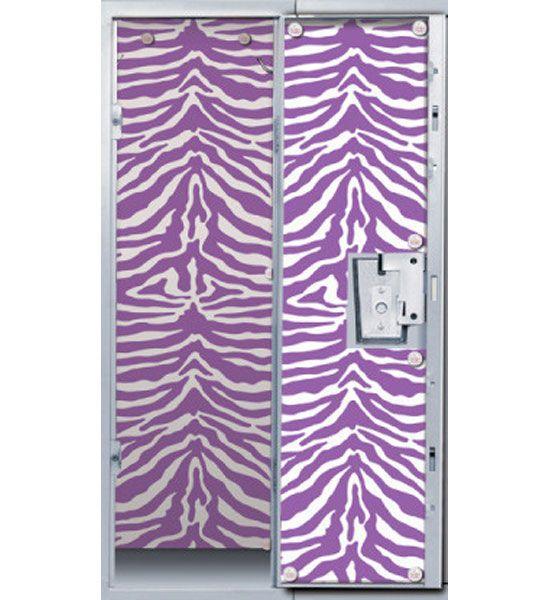Blue Zebra Locker Wallpaper