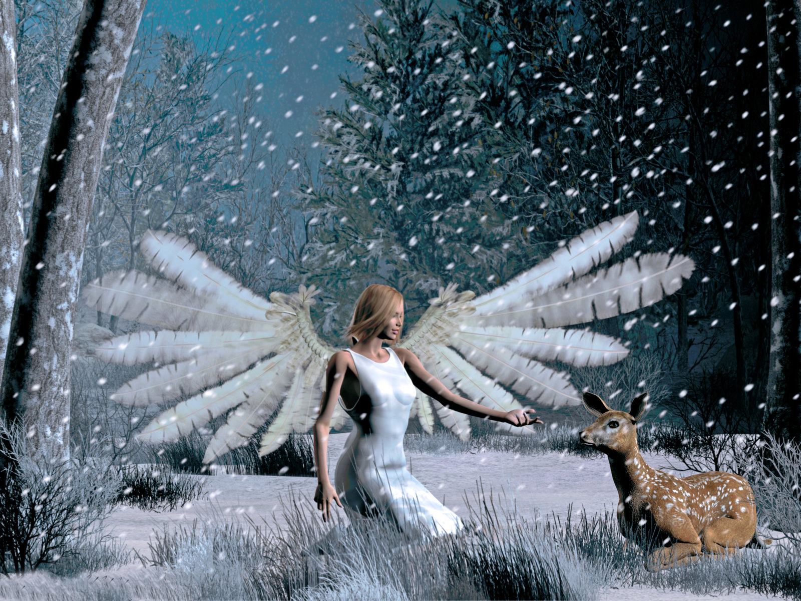 christmas desktop wallpaper Christmas Angel Wallpapers 1600x1200