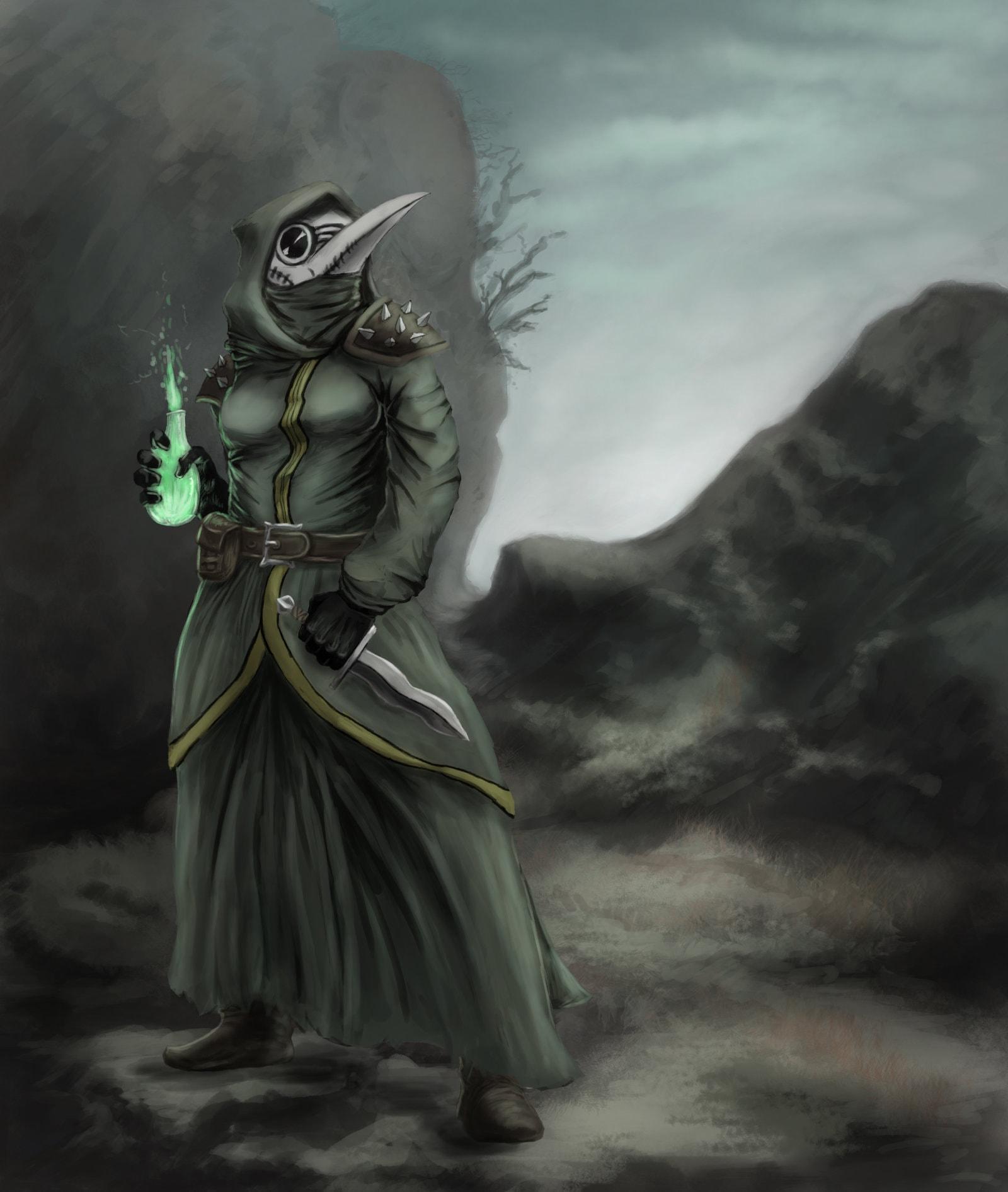 Darkest Dungeon Plague Doctor HD Desktop Wallpapers 1600x1891