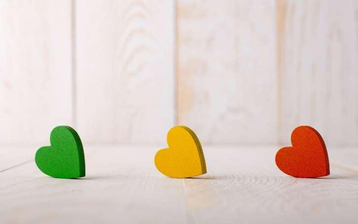 Mood Hearts Green Yellow Red Love Hd Wallpaper Wallpaper List 728x455
