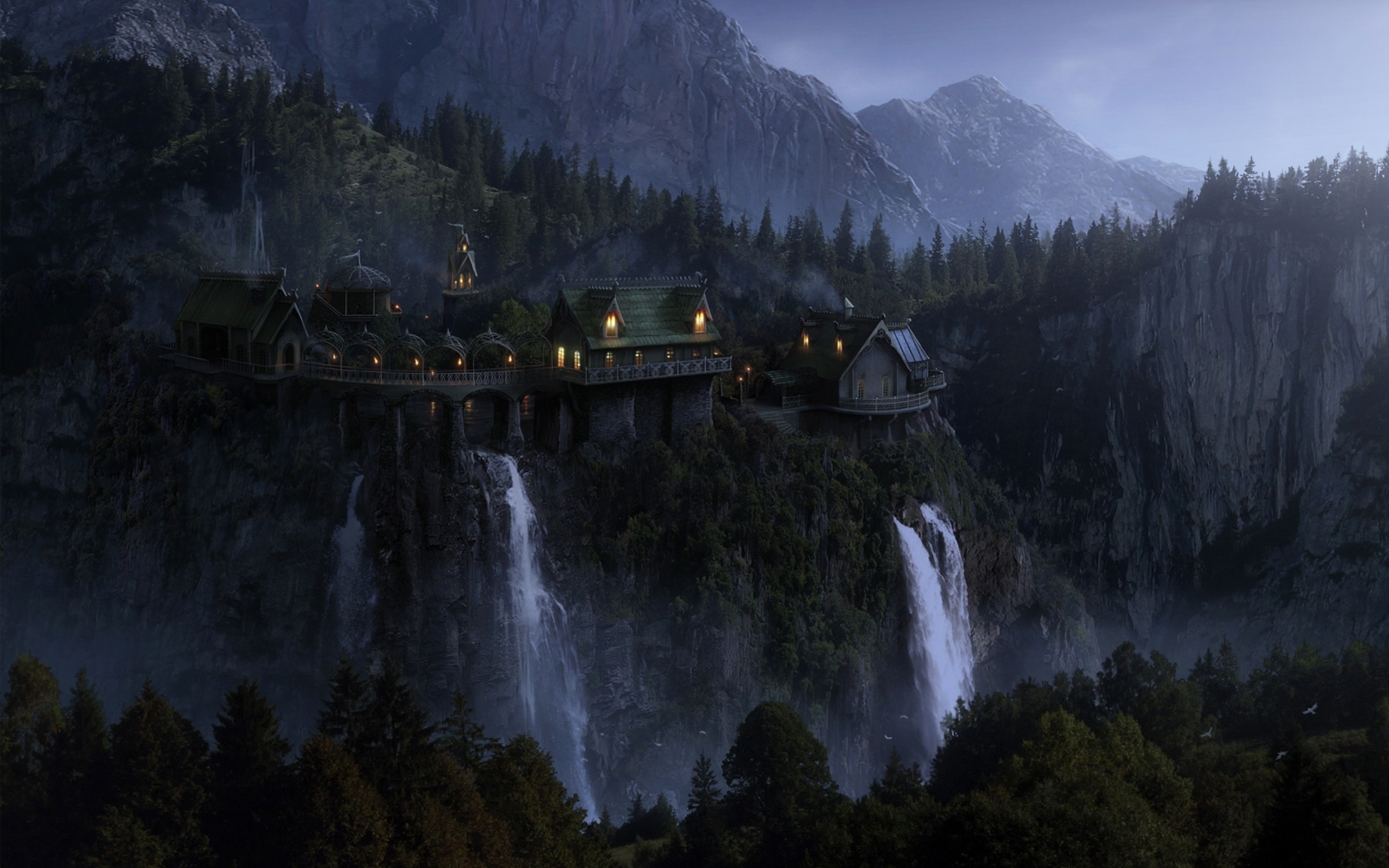 The Lord Of The Rings Rivendell Wallpapers HD Desktop 2560x1600