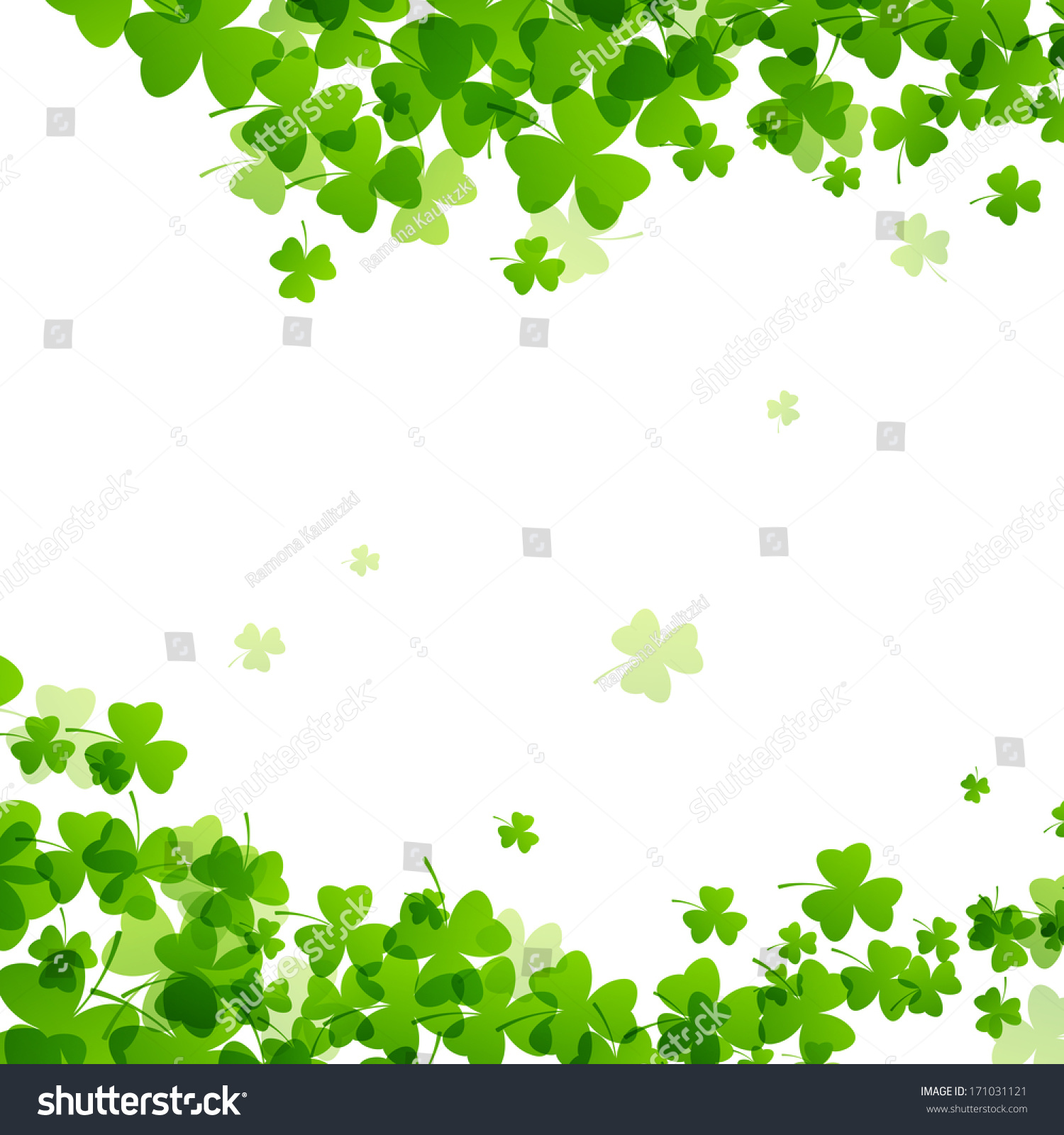 Vector Illustration St Patricks Day Background Stock 1500x1600