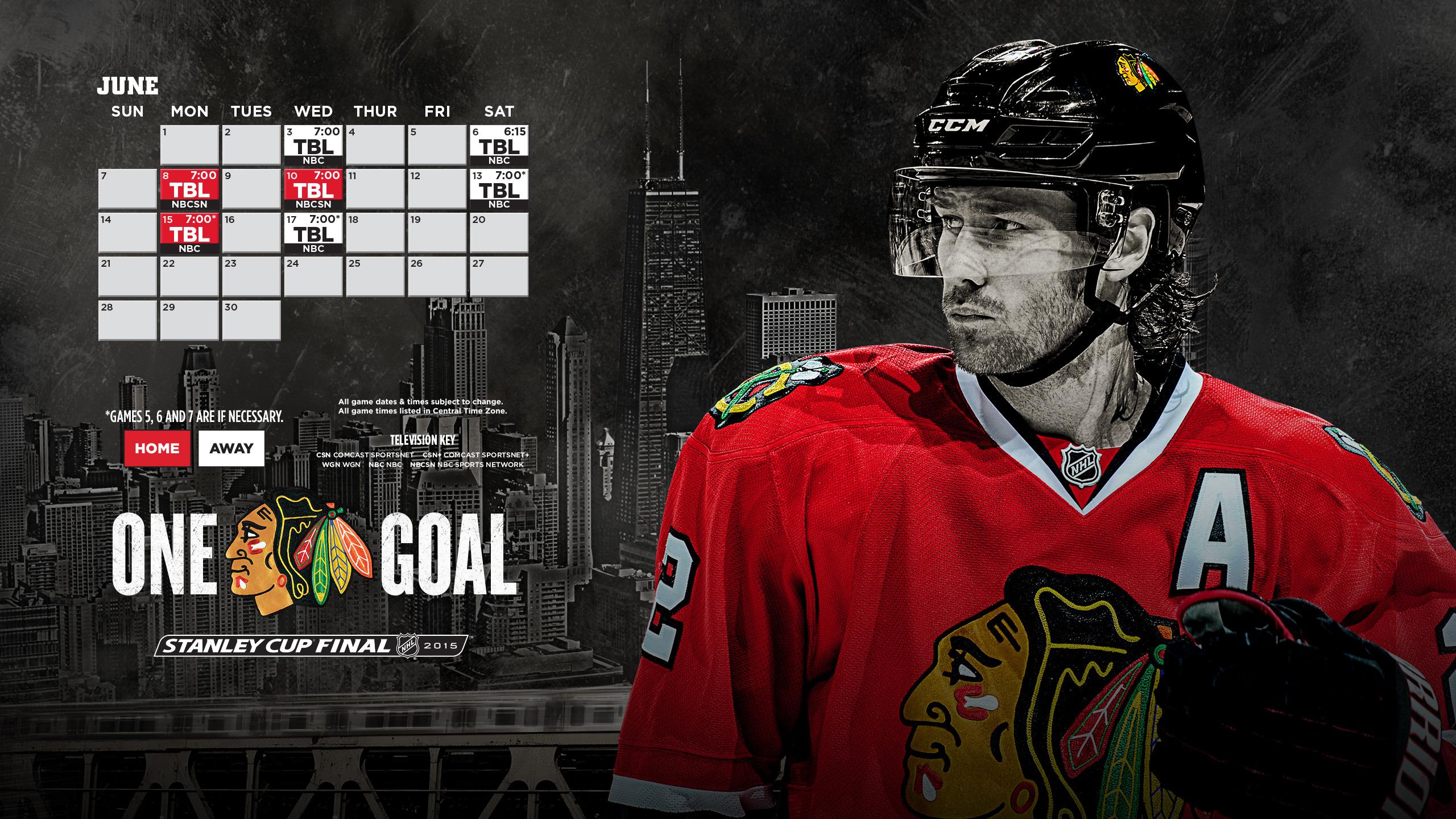 Stanley Cup Final Schedule 2560x1440