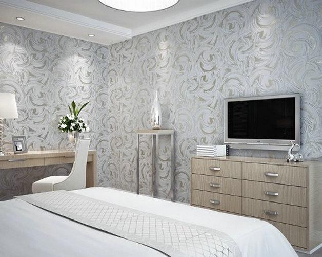 silver bedroom wallpaper - photo #18
