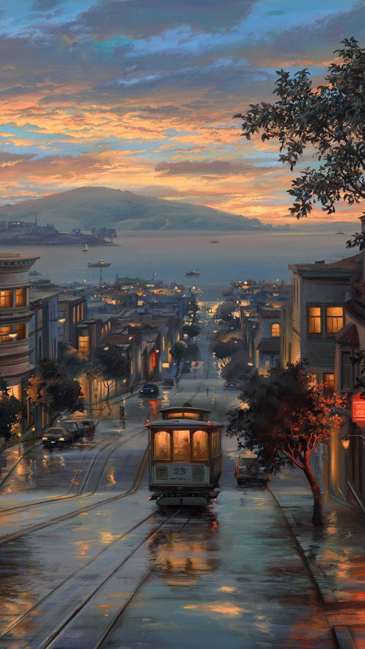 Artisticpainting Wallpaper Id 654620 Mobile Abyss   San Francisco 750x1334