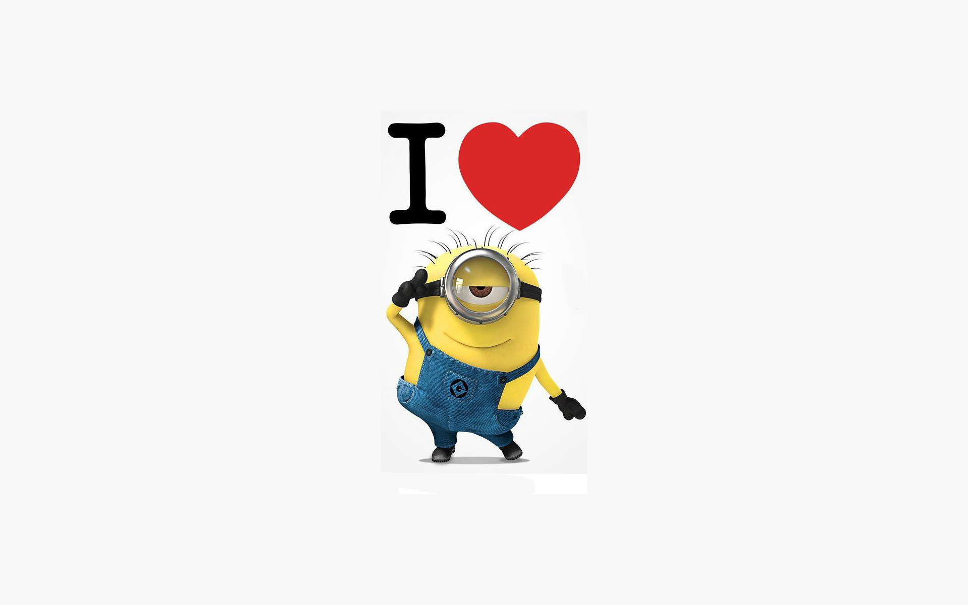 Image for I Love Minions Wallpaper 1920x1200