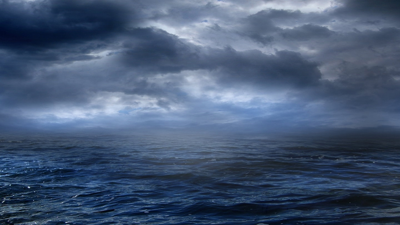 Eyesurfing Storm At Sea Wallpaper Theme 1366x768