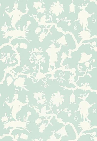 Shantung Silhouette Print Wallpaper Mineral   Asian   Wallpaper   by 396x575