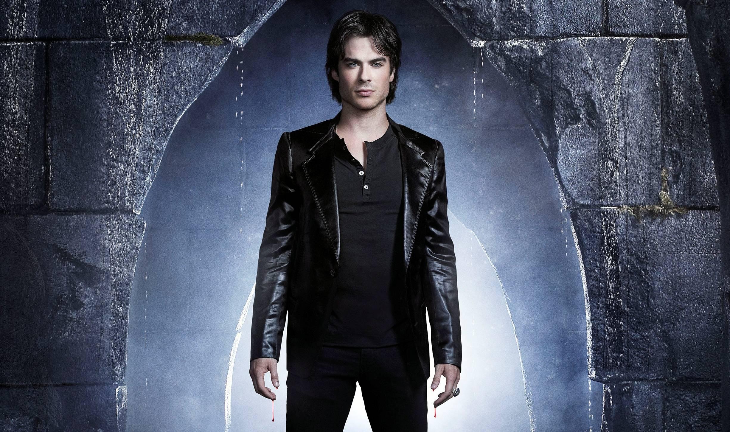 Vampire Diaries Damon Salvatore Wallpaper Damon Salvatore The Vampire 2450x1450
