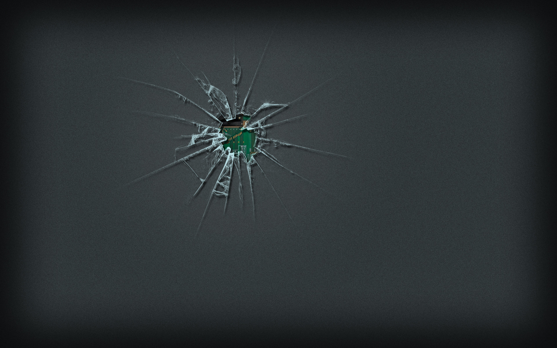Cracked Screen Wallpaper HD 1920x1200