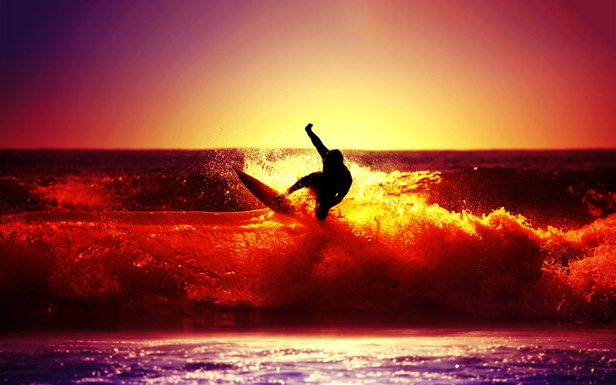 33 Surf Sunset Wallpaper On Wallpapersafari