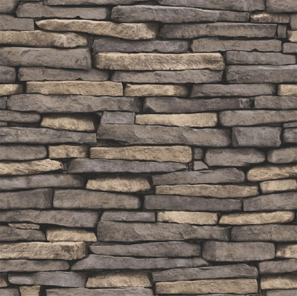 DISTINCTIVE BRICK WALL STONE ROCK SLATE EFFECT 10M WALLPAPER ROLL 1025x1023