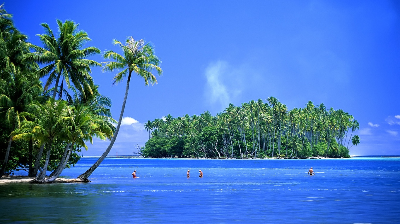 Hd Tropical Island Beach Paradise Wallpapers And Backgrounds: Beautiful Tropical Islands Desktop Wallpaper