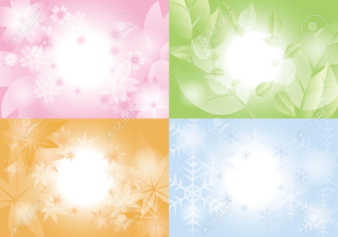 Primavera Verano Otoo Invierno background Ilustraciones 1300x910