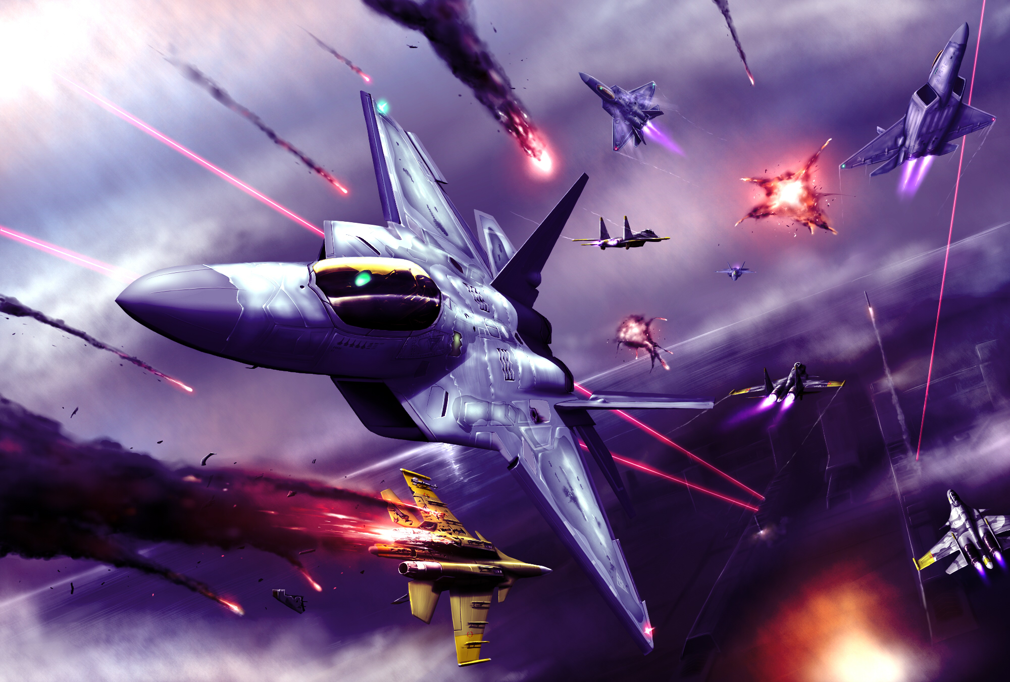 Wallpaper Abyss Everything Ace Combat Video Game Ace Combat 174346 2000x1350