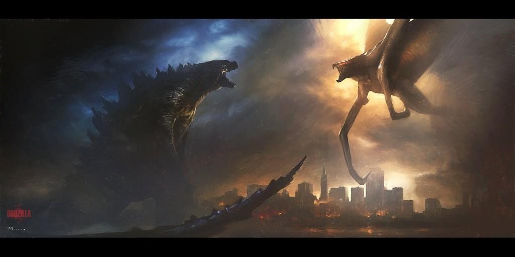 Godzilla Vs Muto 2014 Background For Wallpaper 3499 Wallpaper Cool 1024x512