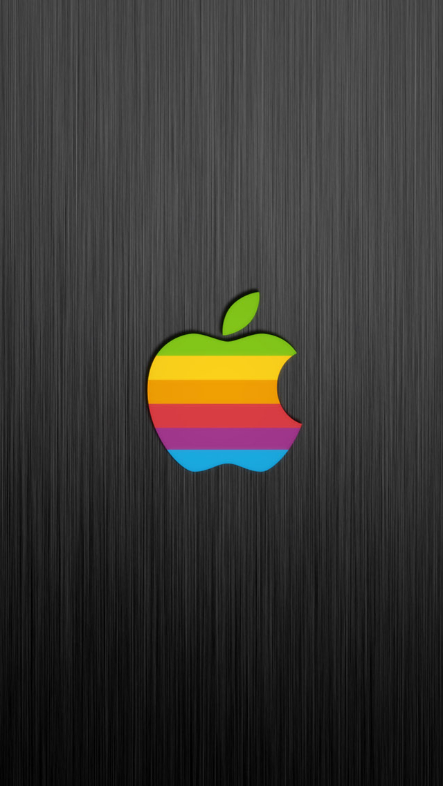 Plus release with these beautiful Apple logo wallpapers The old Apple 640x1136