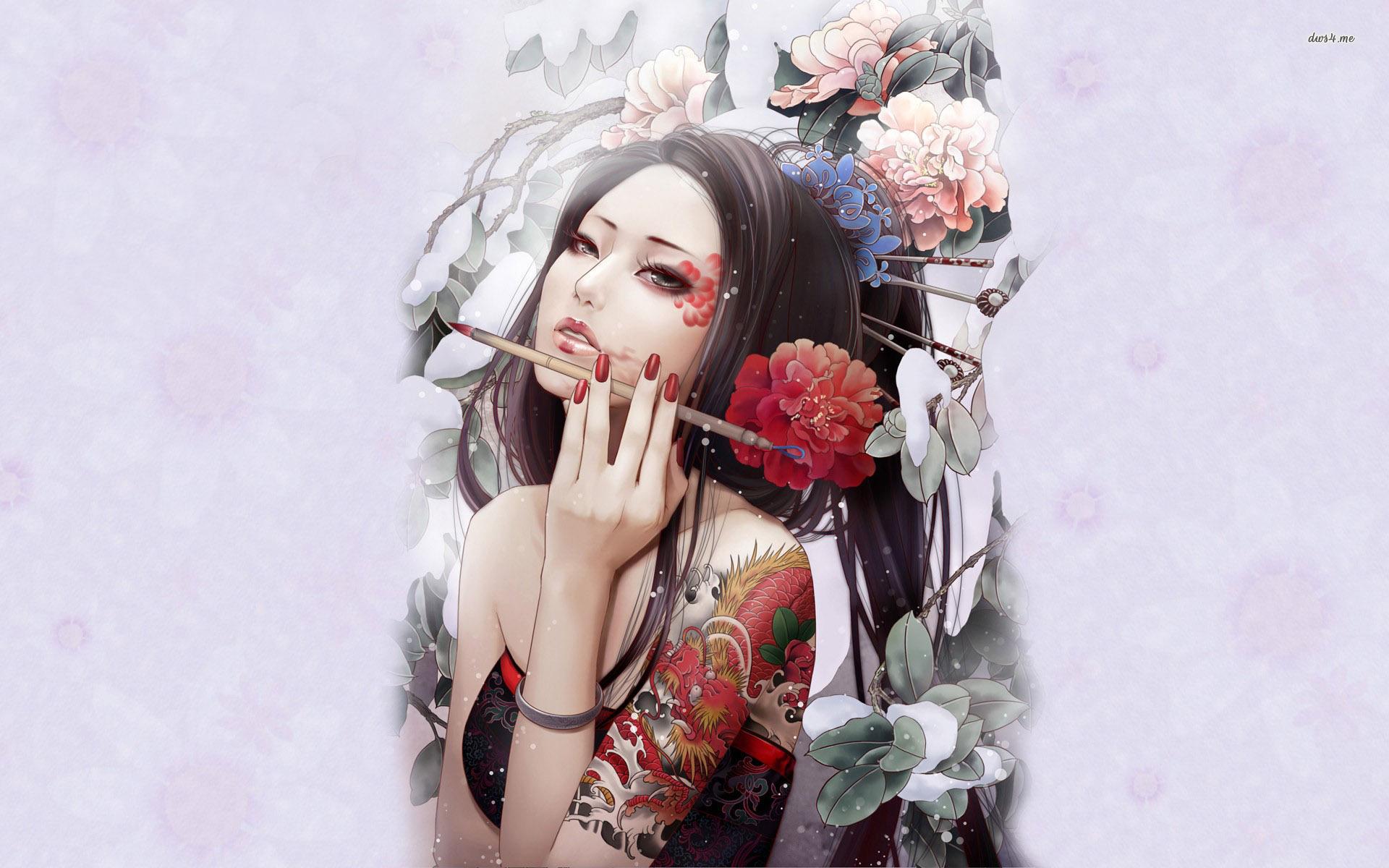 Artistic geisha wallpaper   Artistic wallpapers   17669 1920x1200