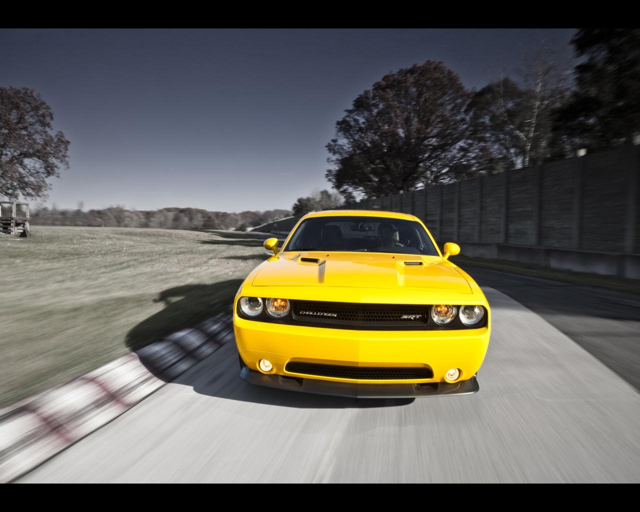 1280x1024 2012 Dodge Challenger SRT8 392 Yellow Jacket Front desktop 1280x1024