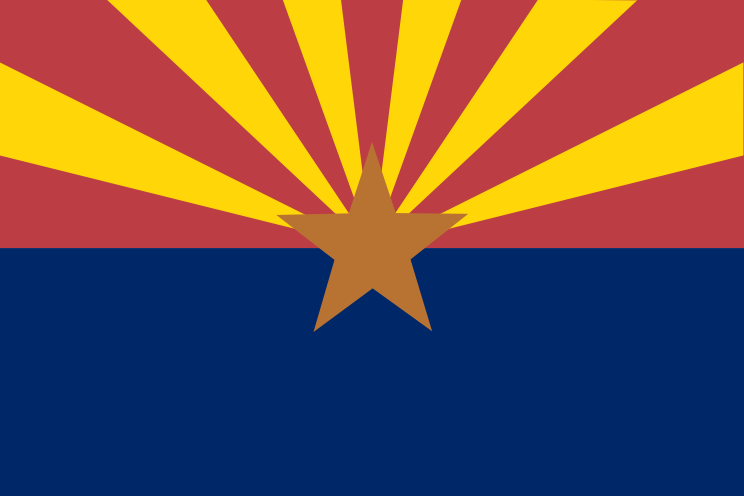 Click for larger flag of Arizona 744x496