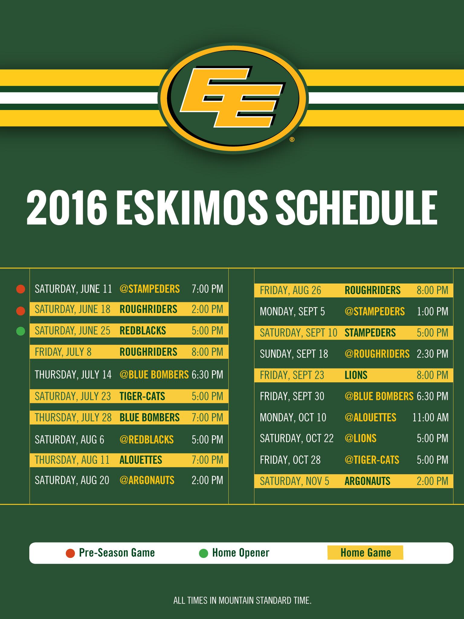 2016 Schedule Wallpaper   Edmonton Eskimos 1536x2048