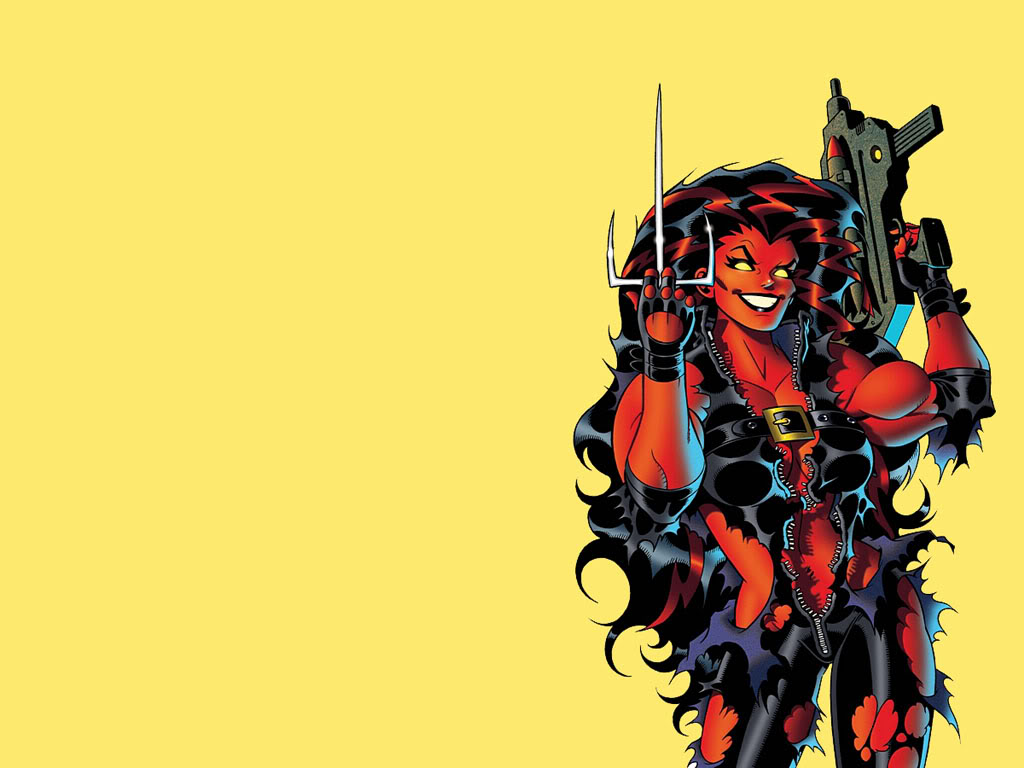 Red She Hulk Wallpaper 1024x768
