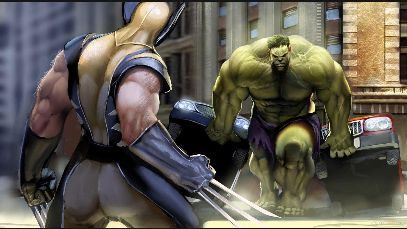Download Hulk VS X Men HD Wallpaper Wallpaper 1366x768