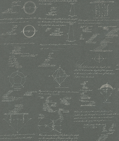 Pythagoras by Andrew Martin   Charcoal Wallpaper Direct 382x450