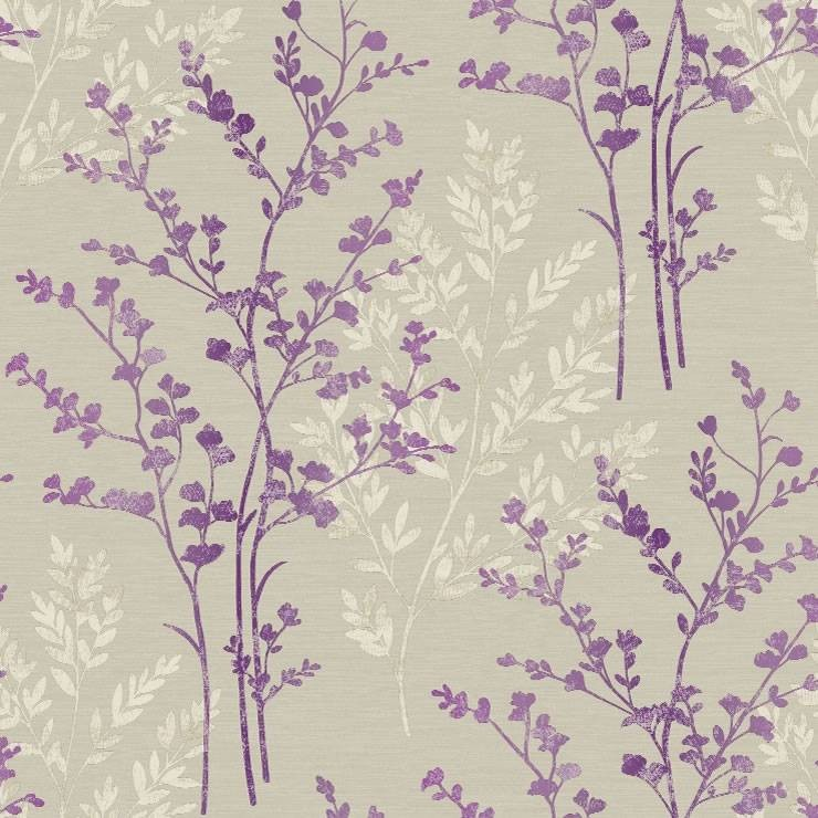 Purple Cream Beige   250403   Fern   Motif   Arthouse Wallpaper 740x740