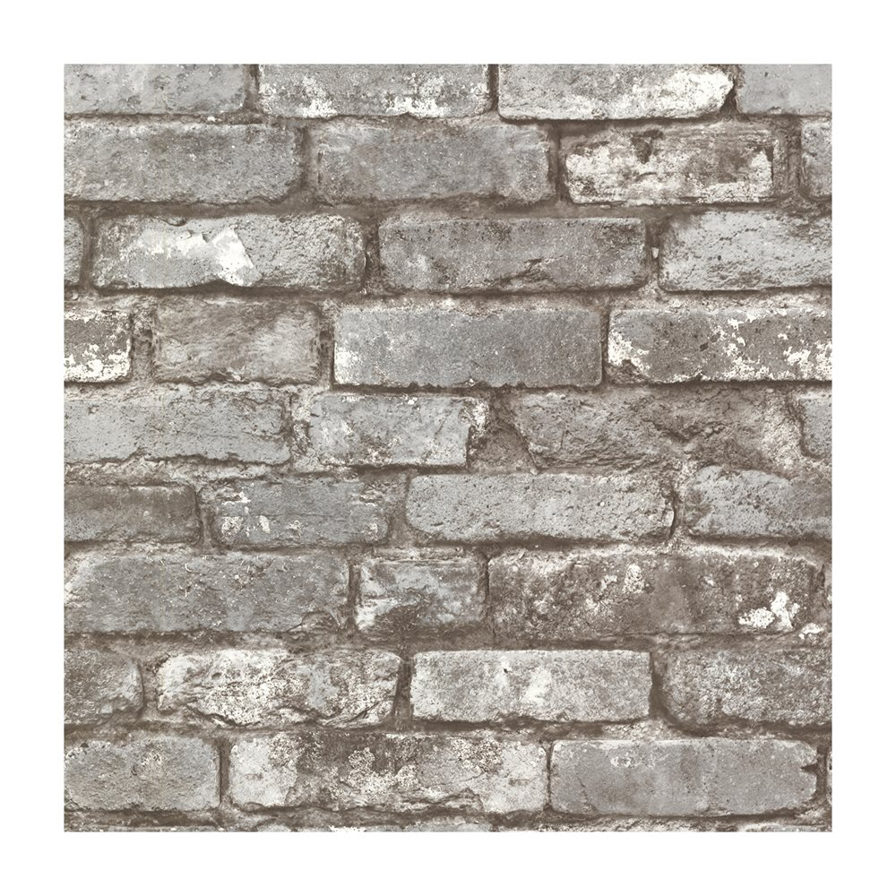 21259 Brickwork Pewter Exposed Brick Effect Wallpaper Lowes Canada 1000x1000
