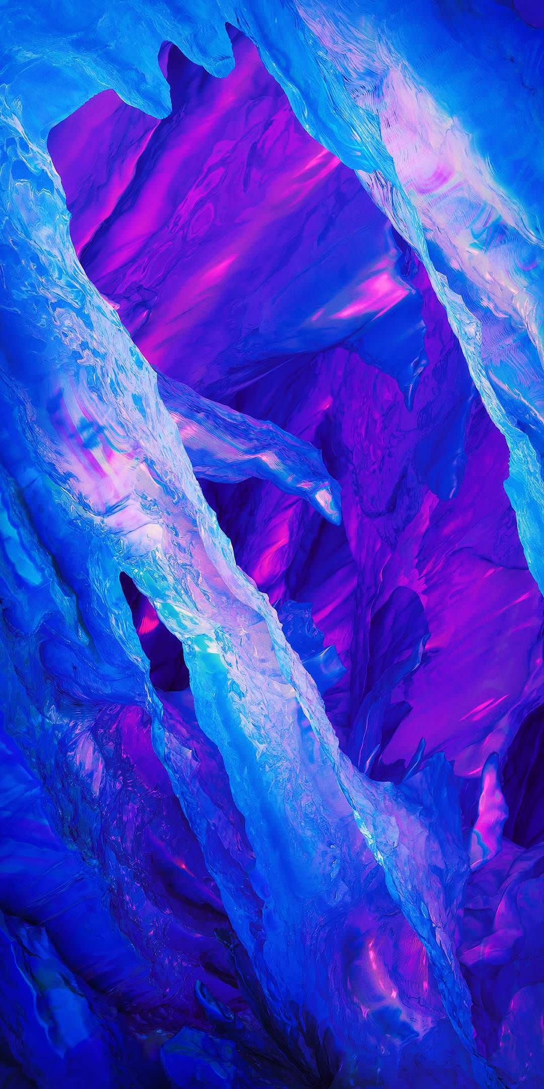 Crystal cavern and vibrant purple I have so many wallpapers to 1080x2160