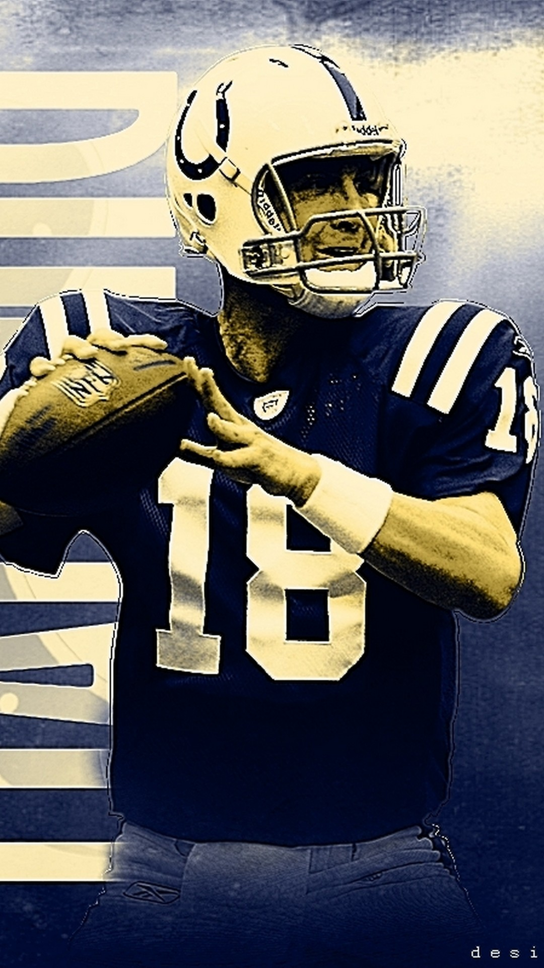 Peyton Manning Indianapolis Colts iPhone Wallpapers 2019 NFL 1080x1920