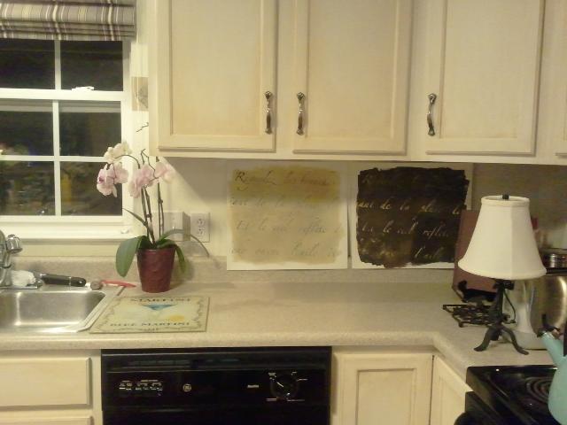 DIY Stenciled Kitchen Backsplash BlogHer 640x480