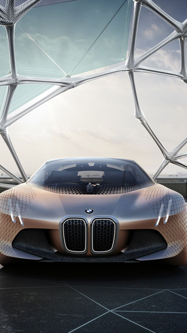 Wallpaper BMW VISION NEXT 100 HD wallpaper concept electric car 640x1138