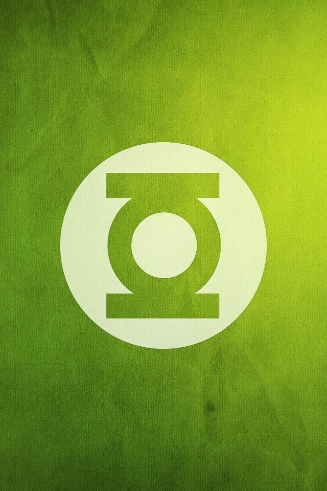 Grunge Style Green Lantern Logo   iPad iPhone HD Wallpaper 640x960