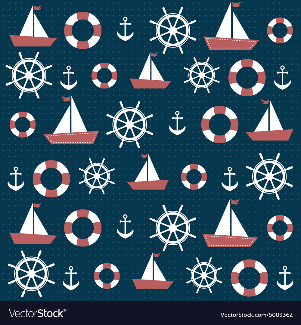 Background with anchors and boats Royalty Vector Image 1000x1080
