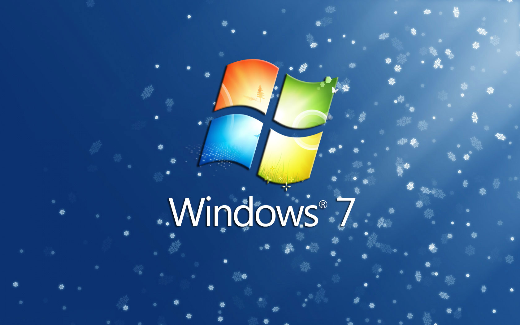 Windows 7 Christmas Background Wallpaper Backgrounds 1680x1050