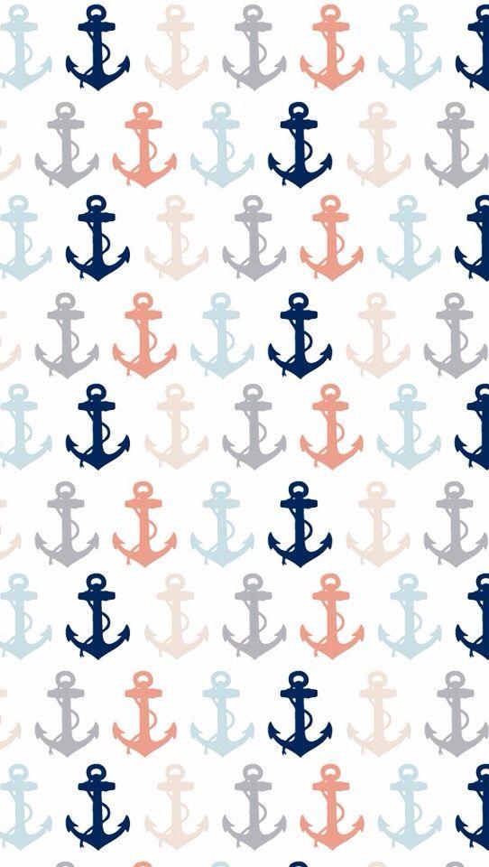 Anchors background Anchor wallpaper Nautical wallpaper 542x960