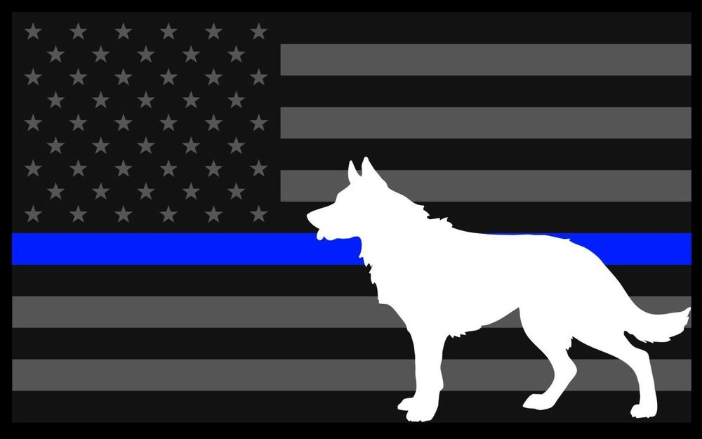 5x3 inch Reflective Decal K9 Tactical Police Law Enforcement Thin Blue 1000x625