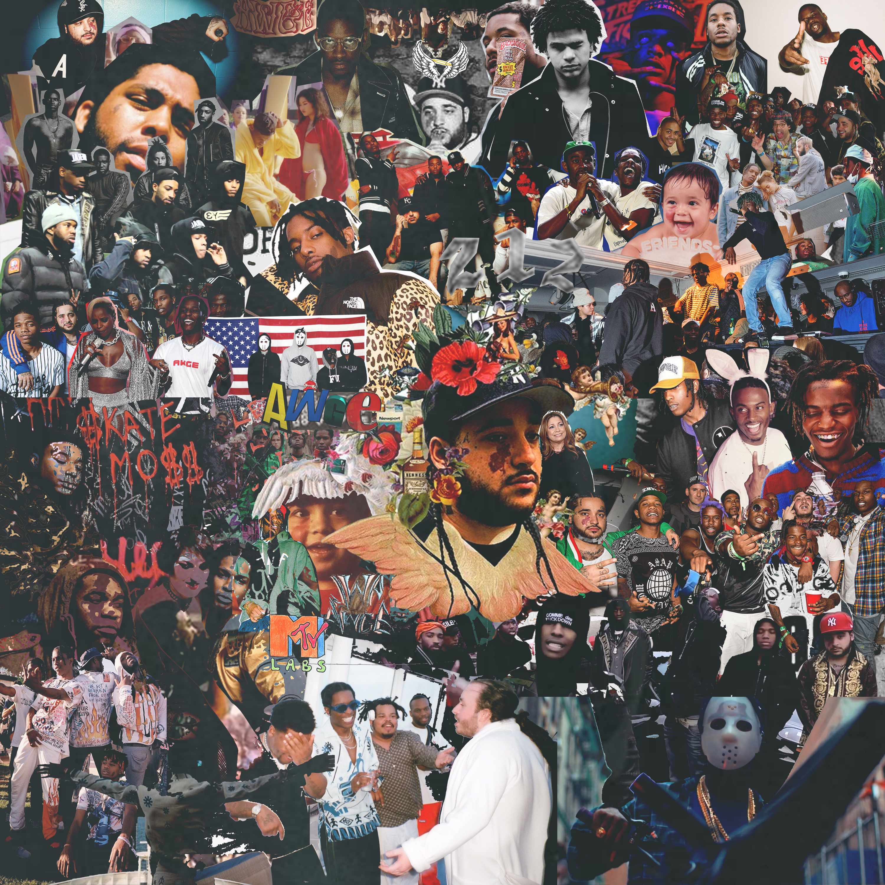 How Math Creates Collage Art for ASAP Mob HYPEBEAST 3000x3000